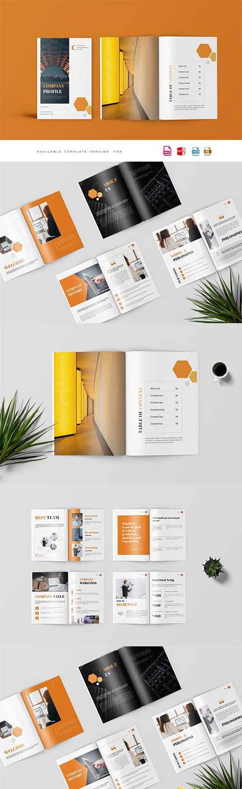 黄色系公司介绍A4画册ID模板 Company Proposal Template插图