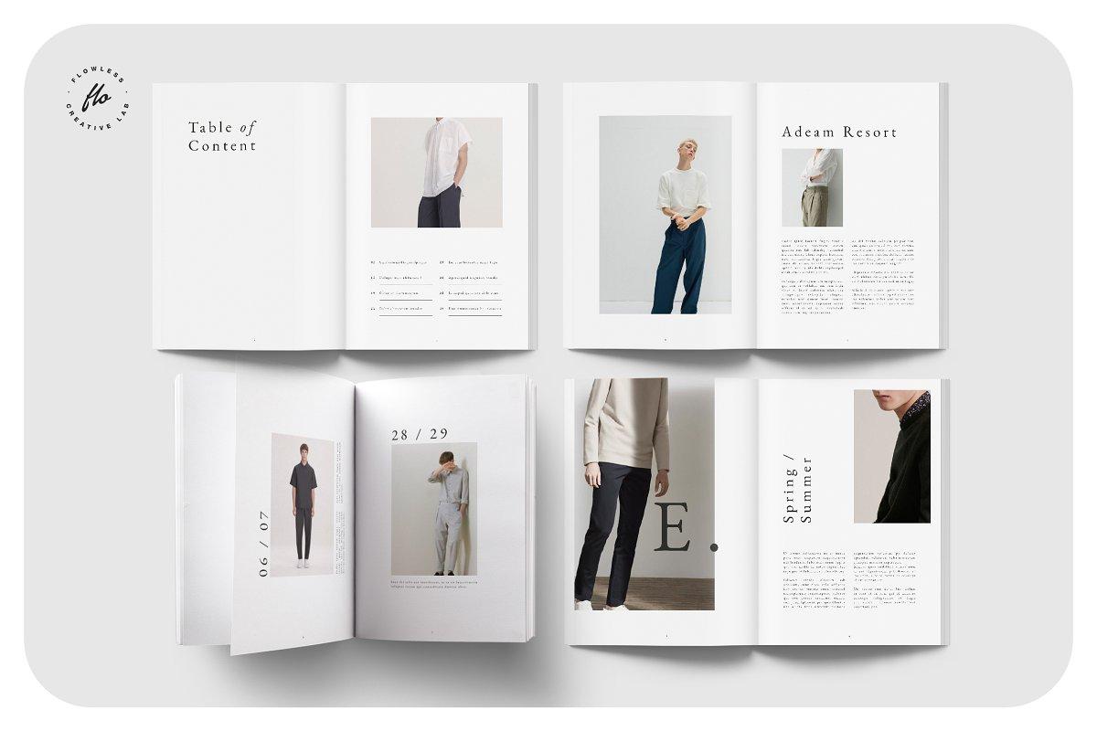 时尚潮流男士服饰画册INDD模板 EXPLORE Editorial Fashion Lookbook插图(1)