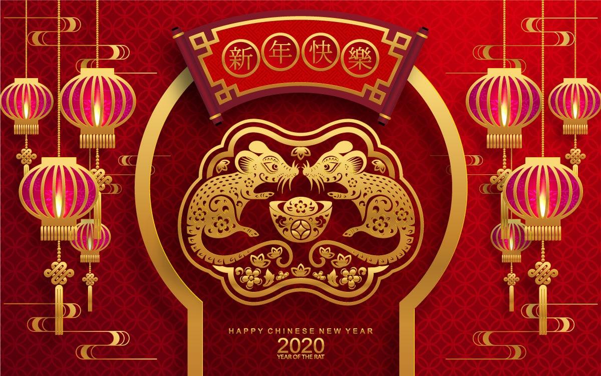 高品质2020年农历鼠年EPS矢量图形合集 High quality 2020 Lunar Year of the Rat EPS Vector Graphic Collection插图(19)