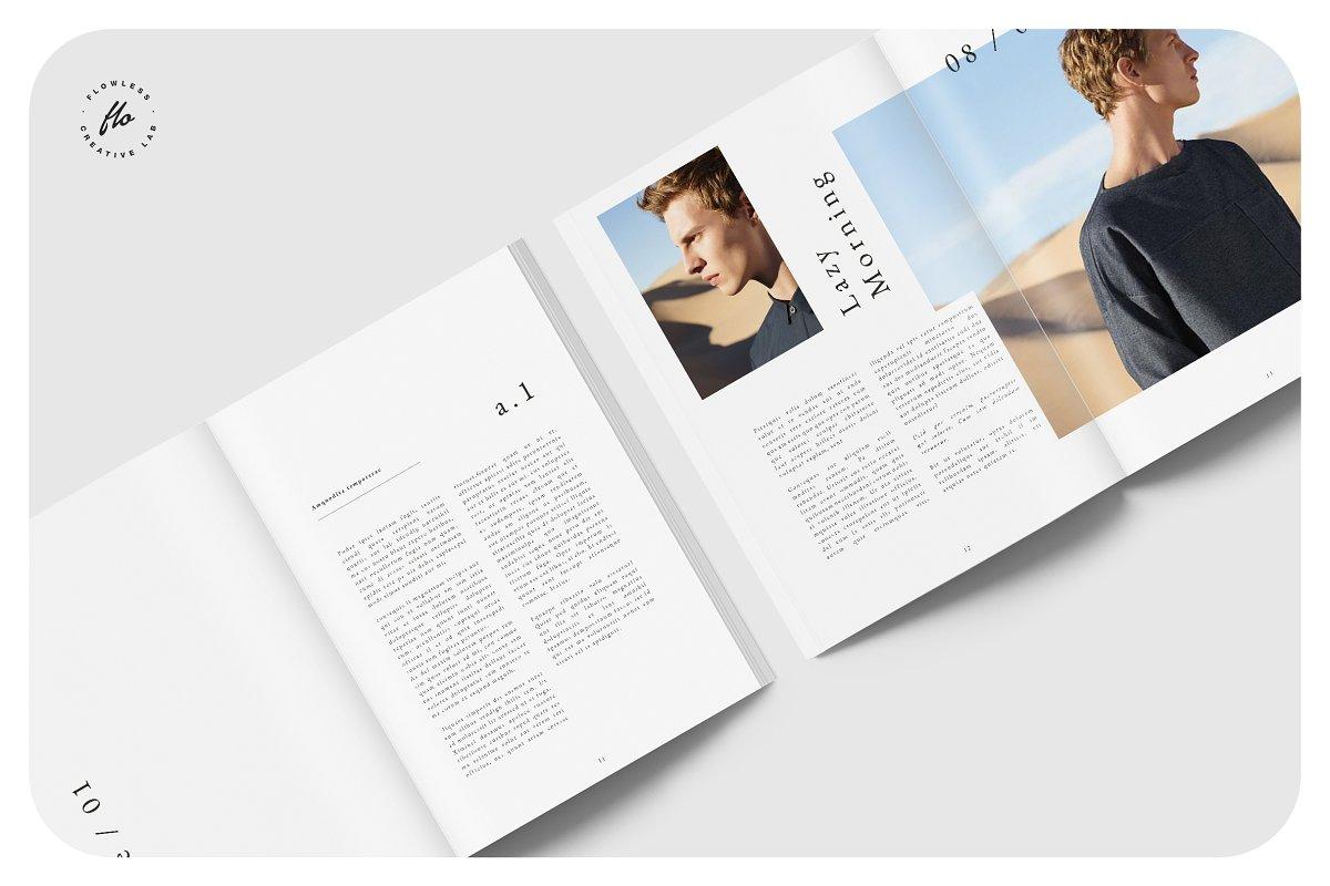 时尚潮流男士服饰画册INDD模板 EXPLORE Editorial Fashion Lookbook插图(2)
