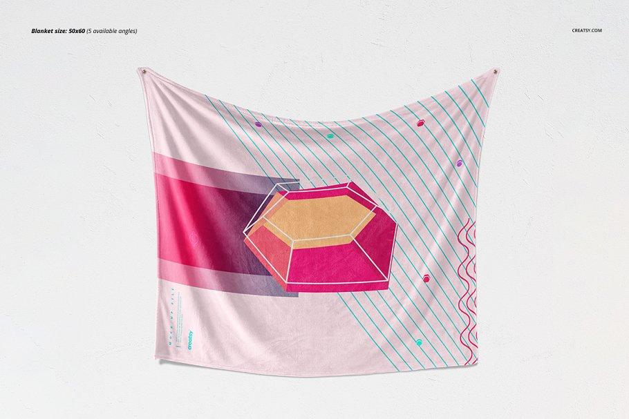 毛茸茸的毯子样机集 Fuzzy Blanket Mockup Set插图(5)