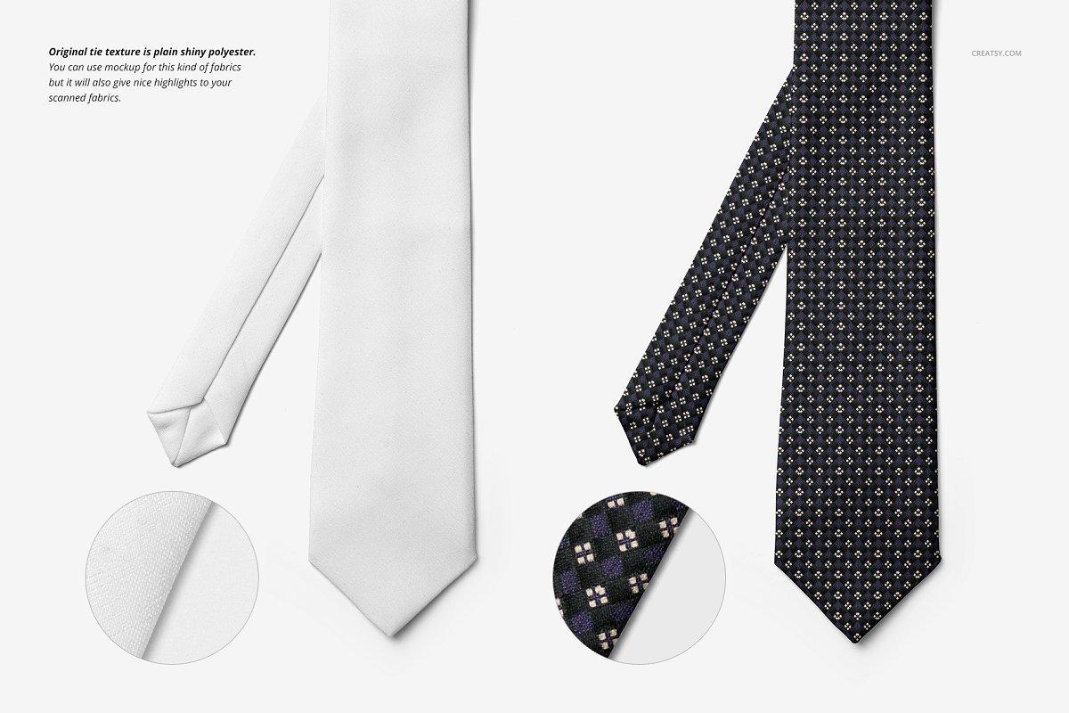 精美的多角度男士领带样机PSD模板 Gentelman Pack v.1: Tie Mockup Set插图(3)