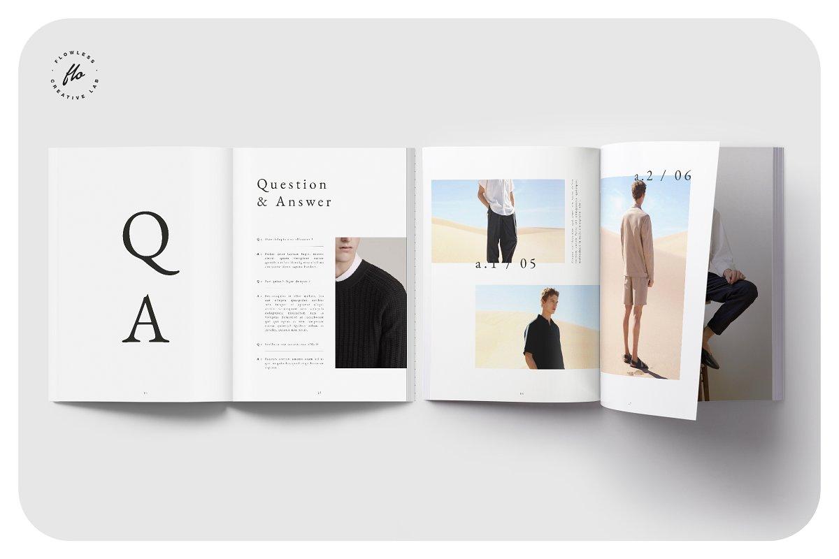 时尚潮流男士服饰画册INDD模板 EXPLORE Editorial Fashion Lookbook插图(3)