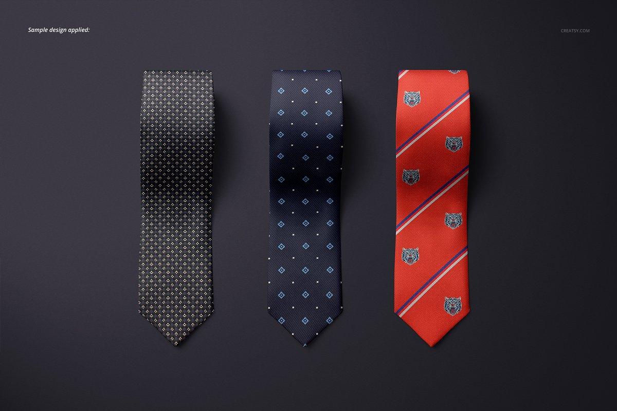 精美的多角度男士领带样机PSD模板 Gentelman Pack v.1: Tie Mockup Set插图(4)