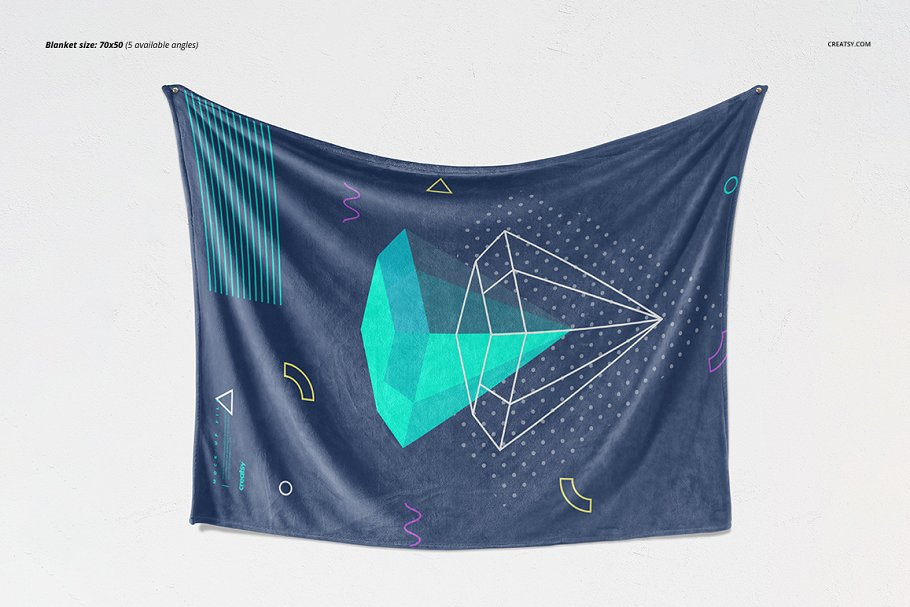 毛茸茸的毯子样机集 Fuzzy Blanket Mockup Set插图(7)