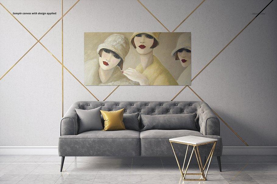 室内装饰艺术画照片帆布打印样机2 Art Deco 2 Canvas Print Mockup插图(5)