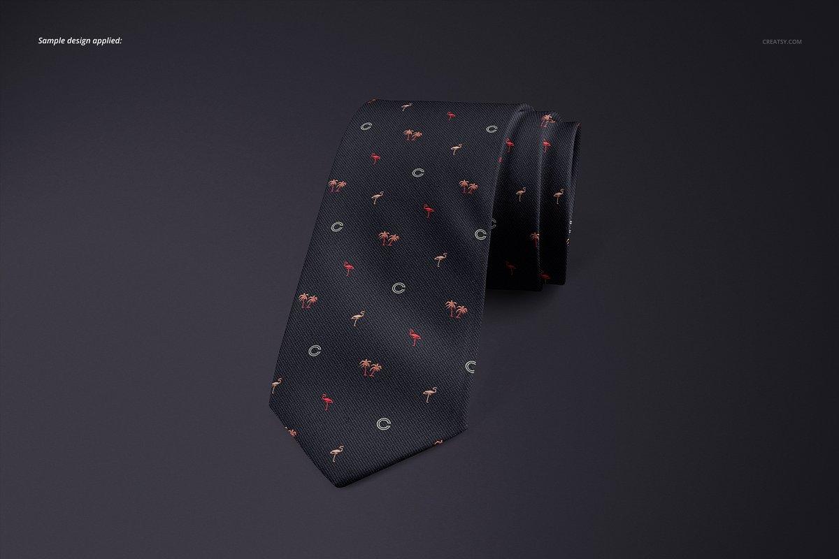 精美的多角度男士领带样机PSD模板 Gentelman Pack v.1: Tie Mockup Set插图(5)
