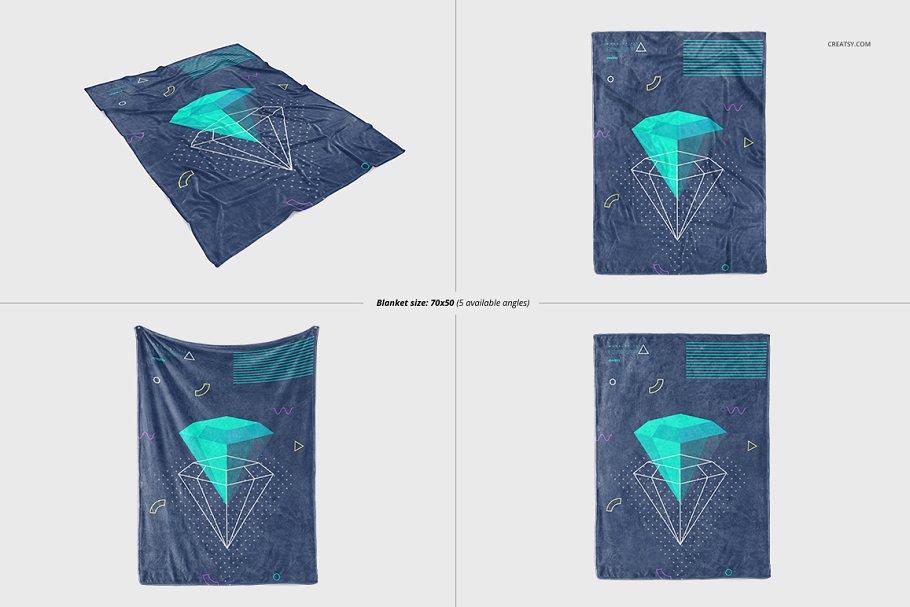 毛茸茸的毯子样机集 Fuzzy Blanket Mockup Set插图(8)