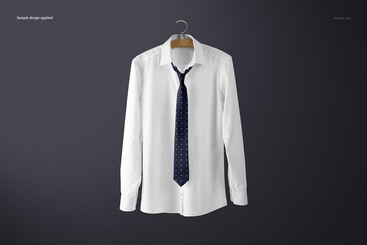 精美的多角度男士领带样机PSD模板 Gentelman Pack v.1: Tie Mockup Set插图(6)