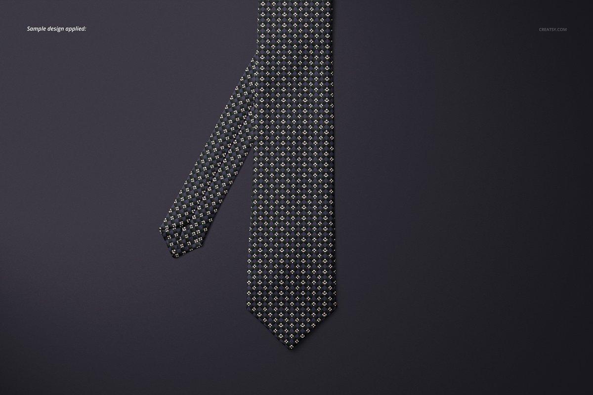精美的多角度男士领带样机PSD模板 Gentelman Pack v.1: Tie Mockup Set插图(7)