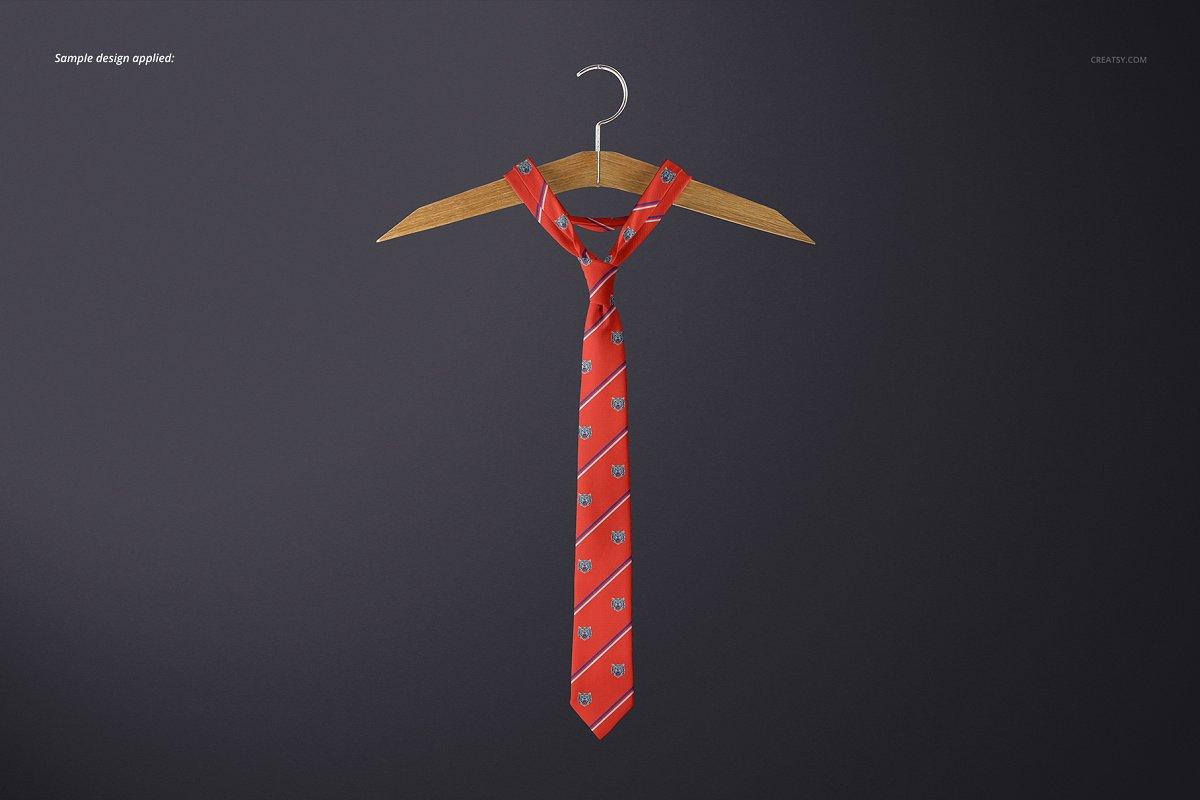 精美的多角度男士领带样机PSD模板 Gentelman Pack v.1: Tie Mockup Set插图(13)