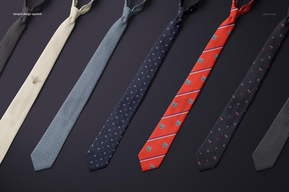 精美的多角度男士领带样机PSD模板 Gentelman Pack v.1: Tie Mockup Set插图(10)