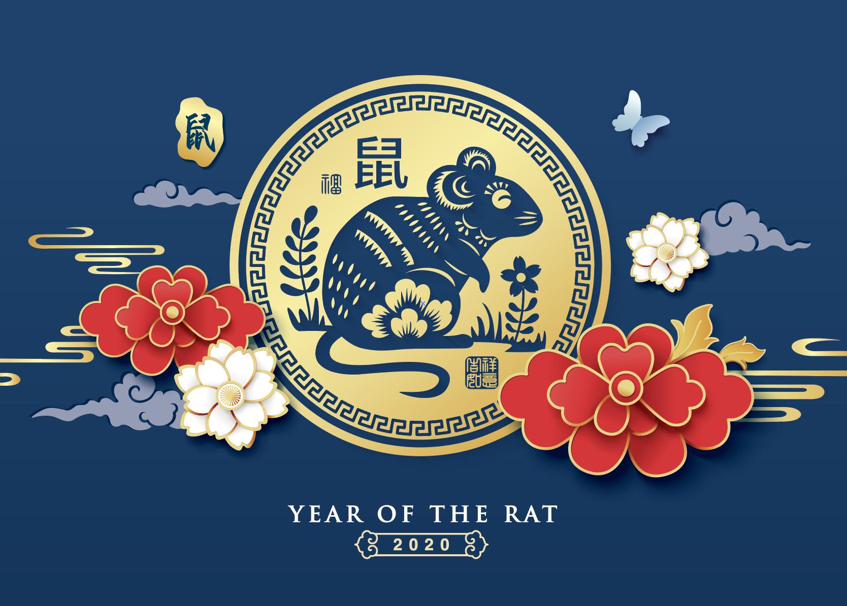 2020新年农历鼠年EPS矢量图形合集 Rat symbol New Year 2020 cartoon illustration 4插图(5)