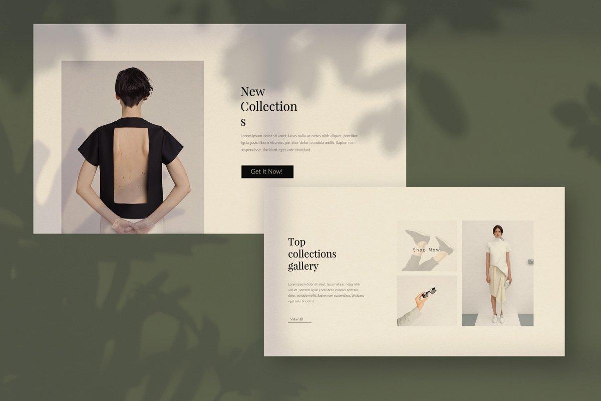 时尚创意多用途男女服装设计介绍PPT模板 Moskov. – Powerpoint插图(2)