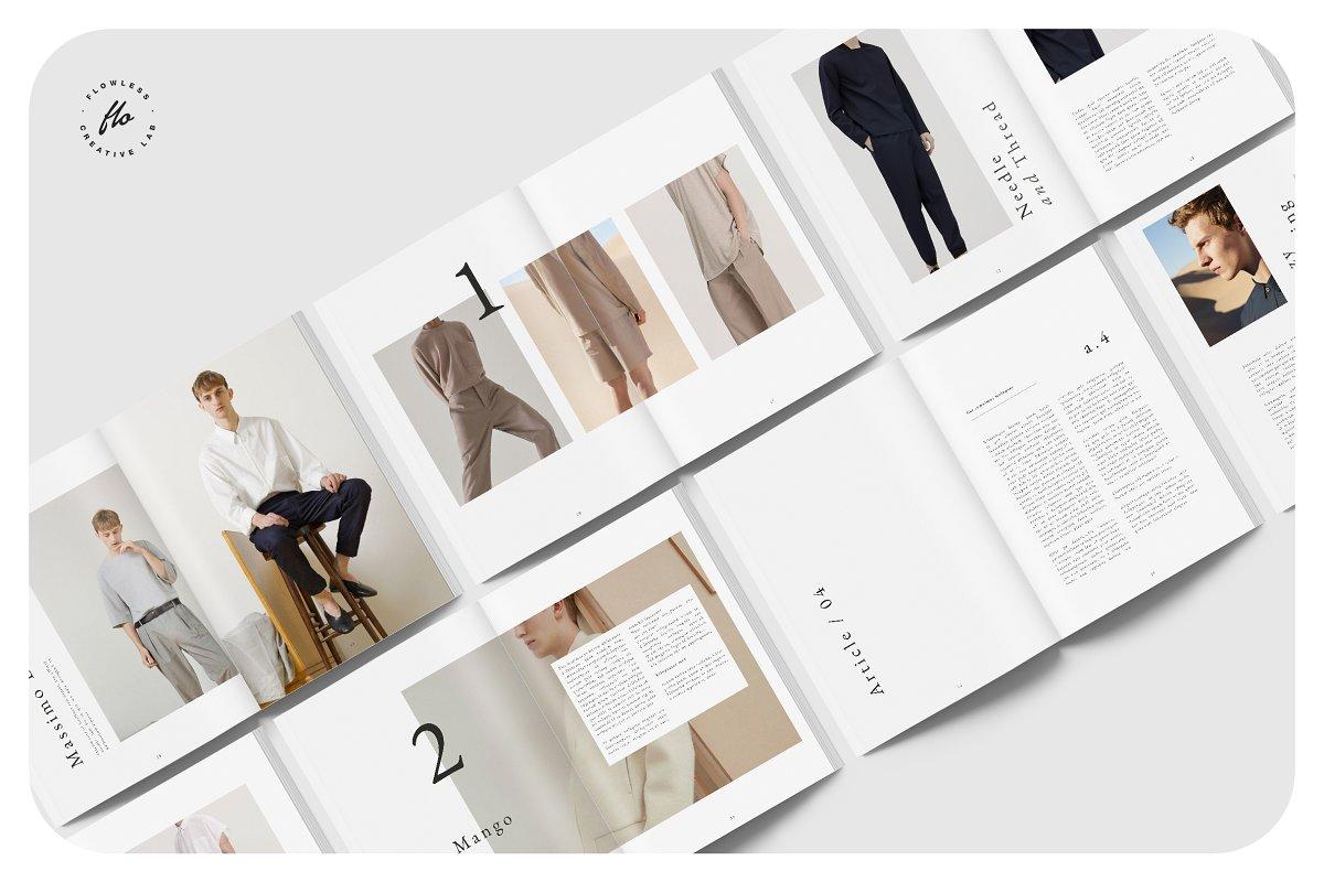 时尚潮流男士服饰画册INDD模板 EXPLORE Editorial Fashion Lookbook插图(4)