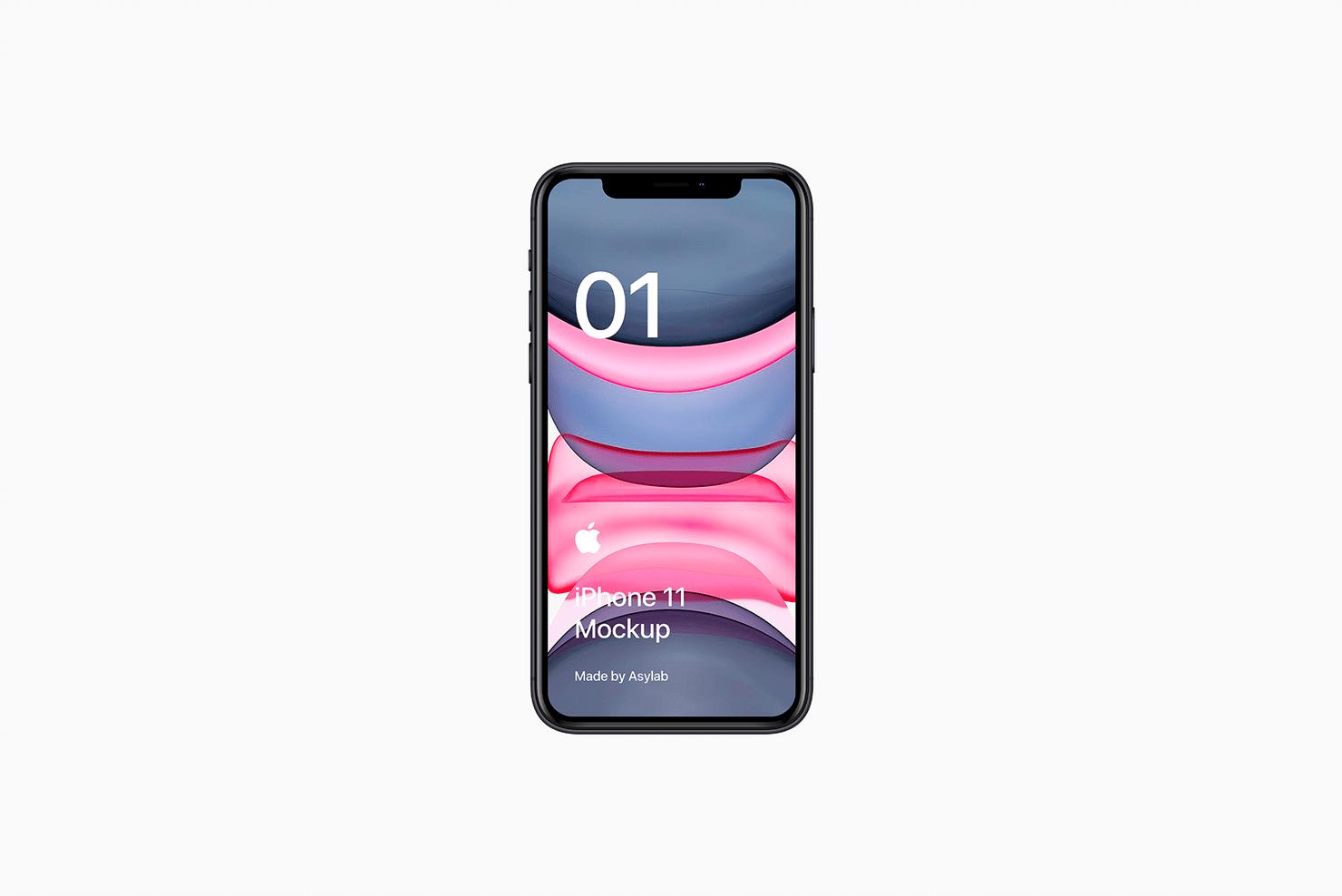 全新iPhone 11手机屏幕界面演示样机PSD模板 iPhone 11 Mockup PSD插图(4)