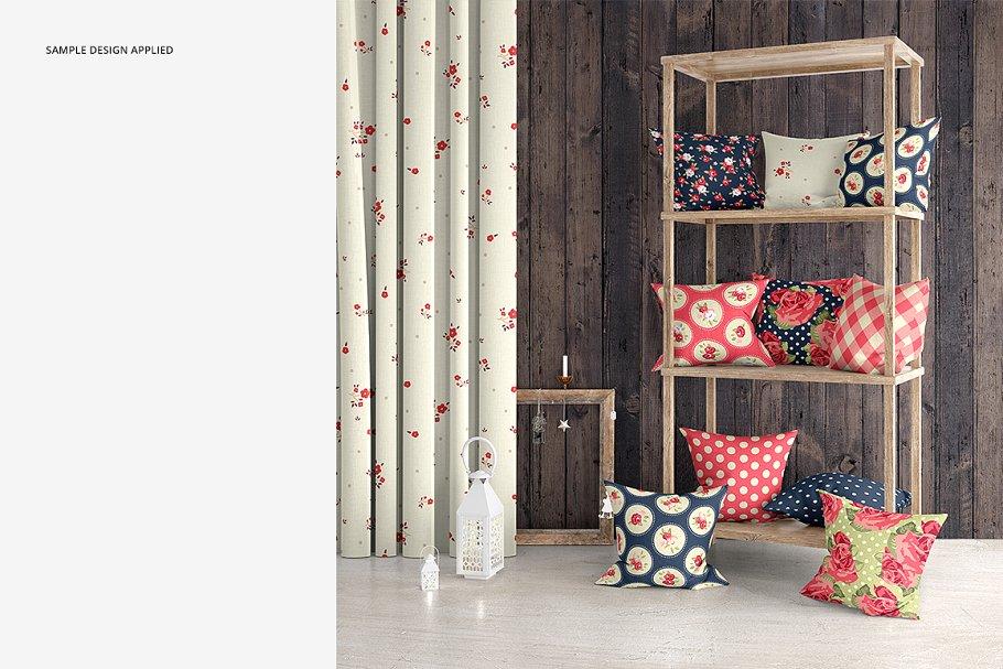 室内场景枕头抱枕样机集 Interior Scene Pillow Mockup Set插图(4)