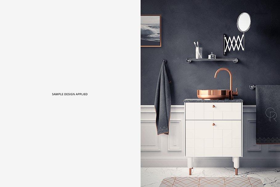 浴室装饰艺术样机集PSD模板 Art Deco Bathroom Mockup Set插图(5)