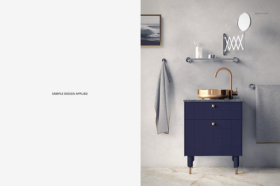 浴室装饰艺术样机集PSD模板 Art Deco Bathroom Mockup Set插图(6)