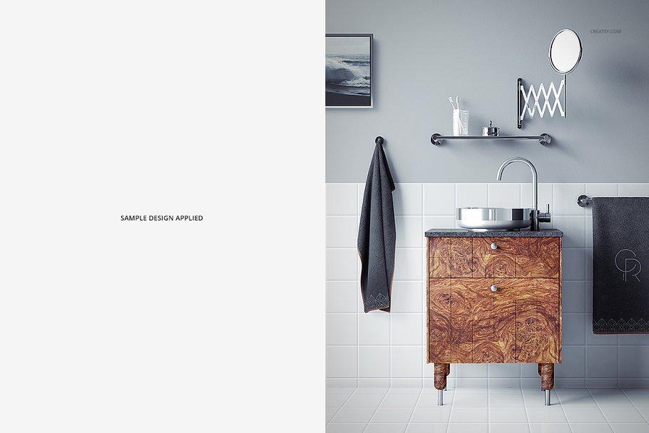 浴室装饰艺术样机集PSD模板 Art Deco Bathroom Mockup Set插图(7)