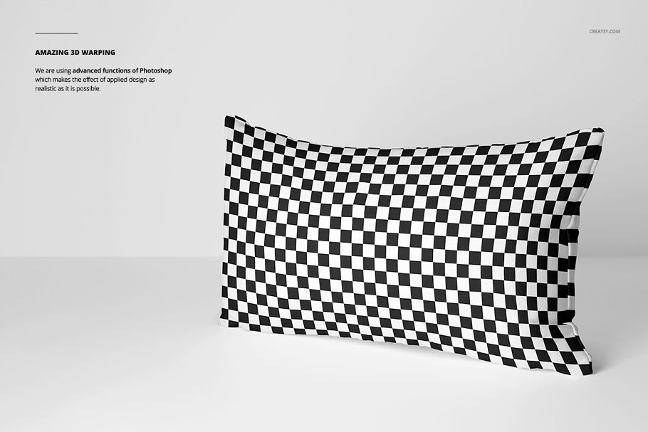 长方形抱枕纺织品样机PSD模板 Fabric Factory v5 Rectangular Pillow插图(7)