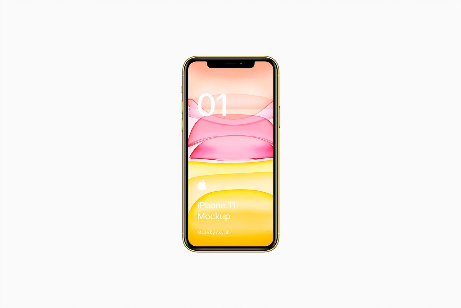 全新iPhone 11手机屏幕界面演示样机PSD模板 iPhone 11 Mockup PSD插图(5)