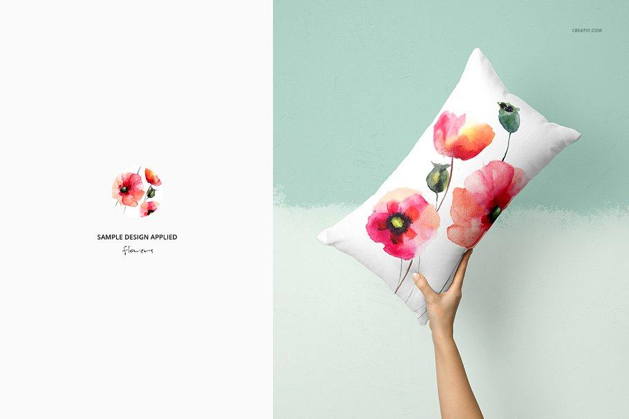 长方形抱枕纺织品样机PSD模板 Fabric Factory v5 Rectangular Pillow插图(8)
