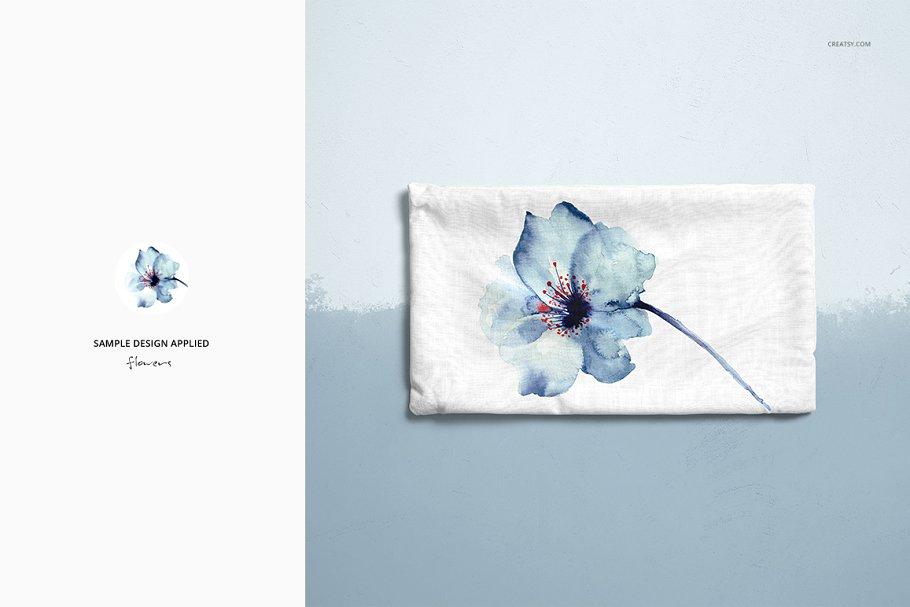 长方形抱枕纺织品样机PSD模板 Fabric Factory v5 Rectangular Pillow插图(14)
