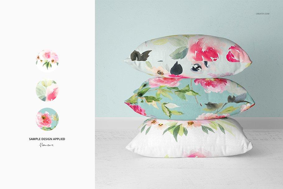 长方形抱枕纺织品样机PSD模板 Fabric Factory v5 Rectangular Pillow插图(13)