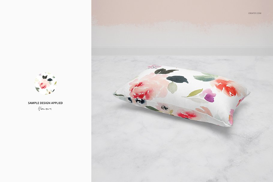 长方形抱枕纺织品样机PSD模板 Fabric Factory v5 Rectangular Pillow插图(12)