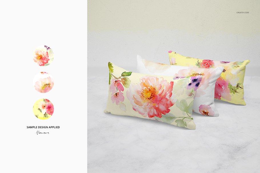 长方形抱枕纺织品样机PSD模板 Fabric Factory v5 Rectangular Pillow插图(9)