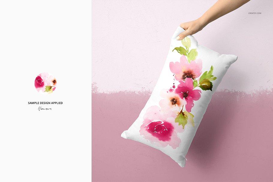 长方形抱枕纺织品样机PSD模板 Fabric Factory v5 Rectangular Pillow插图(11)