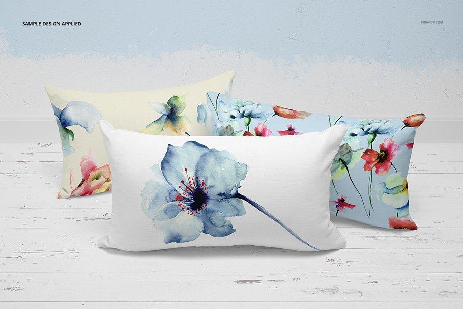 长方形抱枕纺织品样机PSD模板 Fabric Factory v5 Rectangular Pillow插图(19)