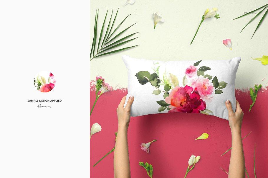 长方形抱枕纺织品样机PSD模板 Fabric Factory v5 Rectangular Pillow插图(18)