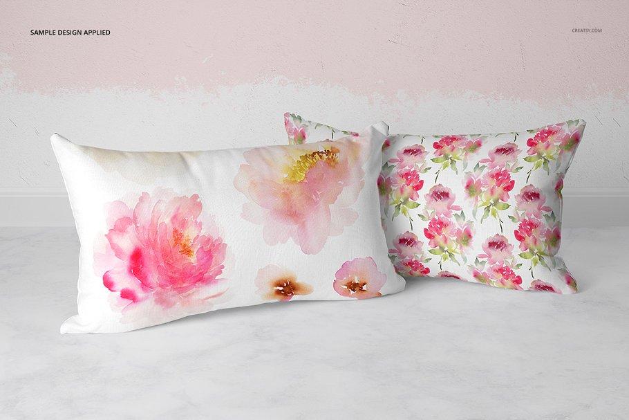 长方形抱枕纺织品样机PSD模板 Fabric Factory v5 Rectangular Pillow插图(17)
