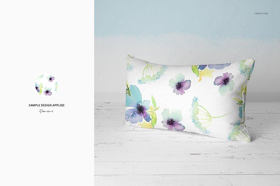 长方形抱枕纺织品样机PSD模板 Fabric Factory v5 Rectangular Pillow插图(16)