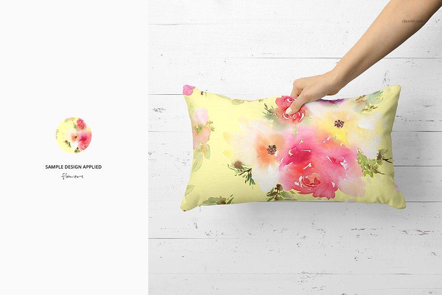 长方形抱枕纺织品样机PSD模板 Fabric Factory v5 Rectangular Pillow插图(15)