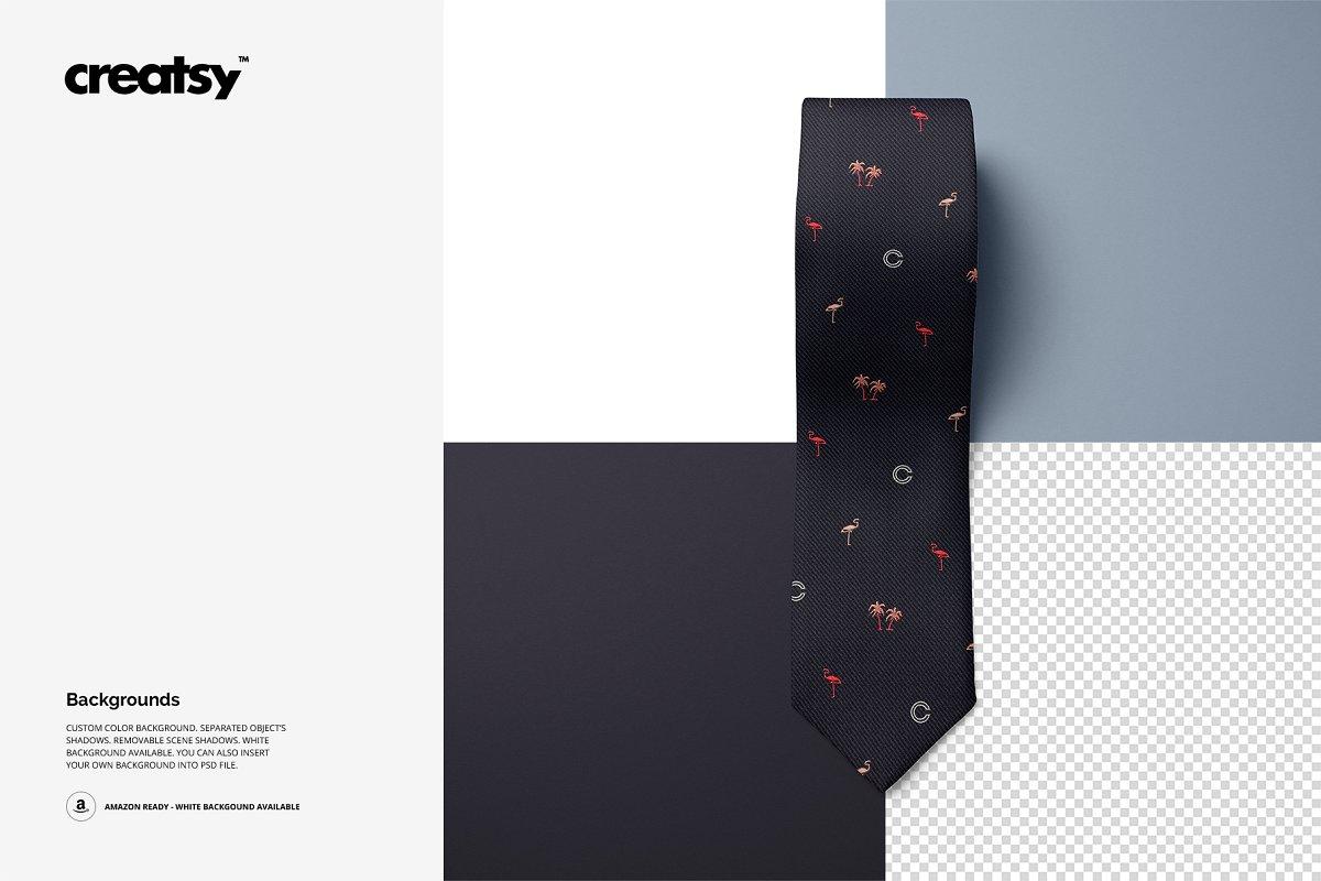 精美的多角度男士领带样机PSD模板 Gentelman Pack v.1: Tie Mockup Set插图(9)
