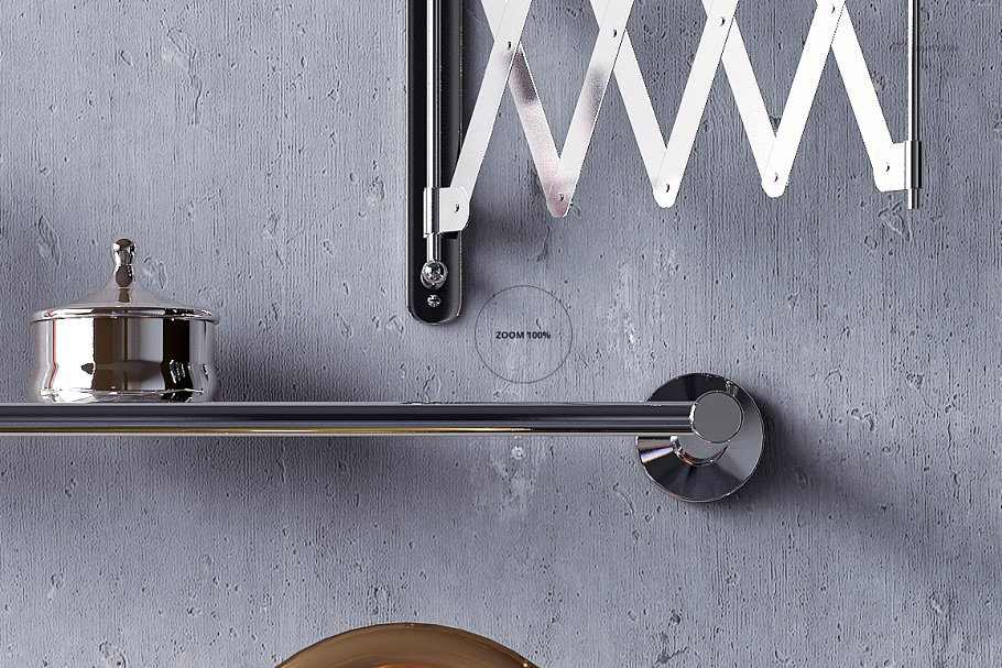 浴室装饰艺术样机集PSD模板 Art Deco Bathroom Mockup Set插图(12)