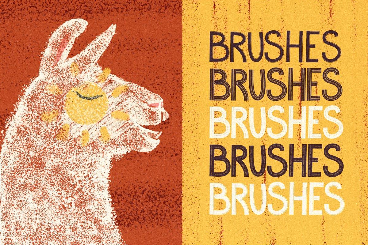 手绘海绵毛刺状Affinity笔刷 Hand Drawn Brushes for Affinity Designer插图(7)