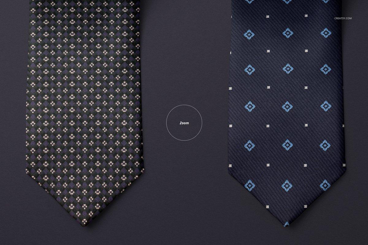 精美的多角度男士领带样机PSD模板 Gentelman Pack v.1: Tie Mockup Set插图(8)