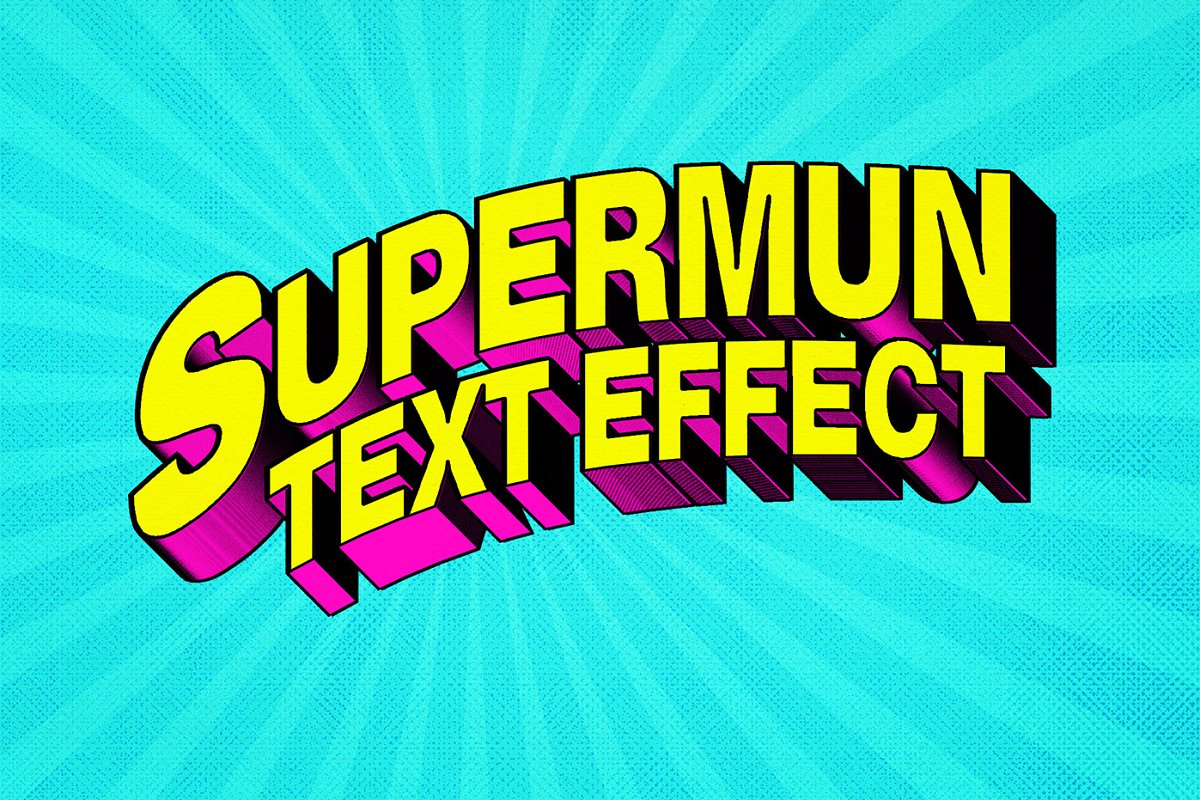 80年代复古3D文字效果图层样式Vol.1 80s Text Effects Vol.1插图(1)