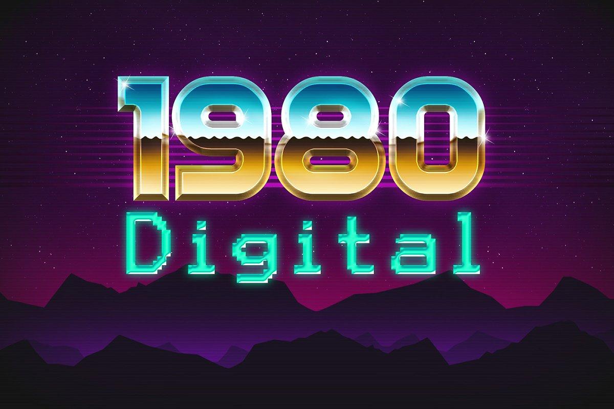 80年代复古3D文字效果图层样式Vol.2 80s Text Effects Vol.2插图(9)