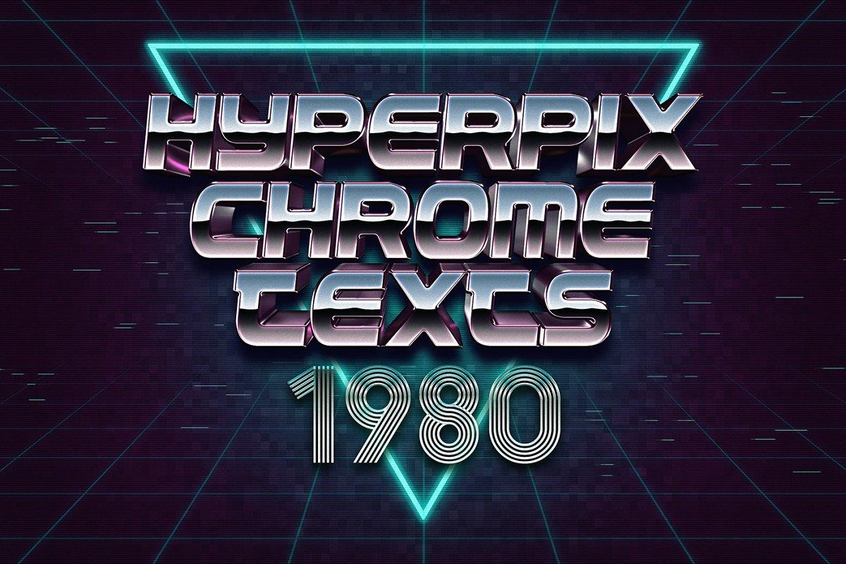 80年代复古3D文字效果图层样式Vol.2 80s Text Effects Vol.2插图(6)