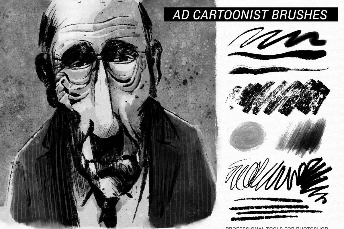专业的漫画绘画必备PS笔刷 The Cartoonist Brushes插图(1)