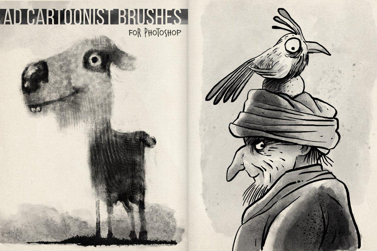 专业的漫画绘画必备PS笔刷 The Cartoonist Brushes插图(4)