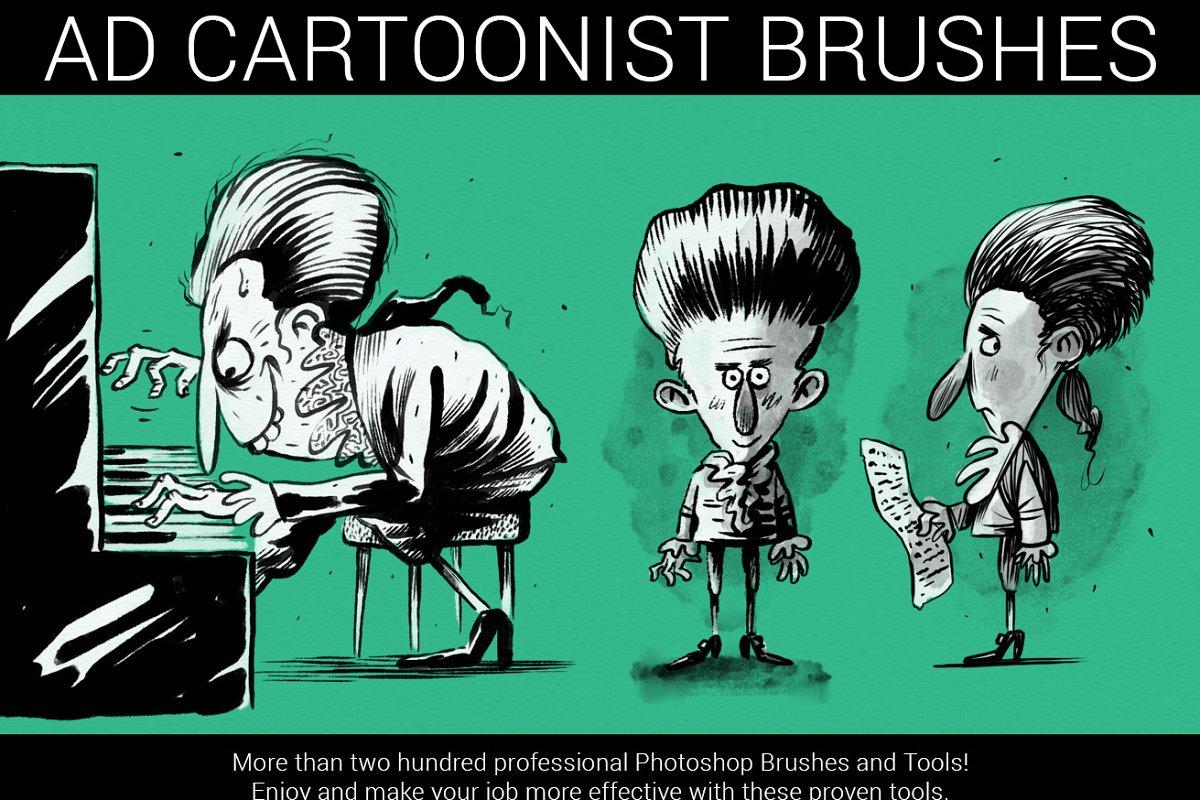 专业的漫画绘画必备PS笔刷 The Cartoonist Brushes插图(5)