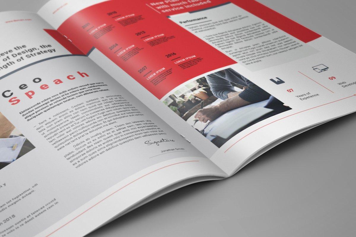 企业业务营销宣传册INDD模板 Exeelo Profile Brochure插图(10)
