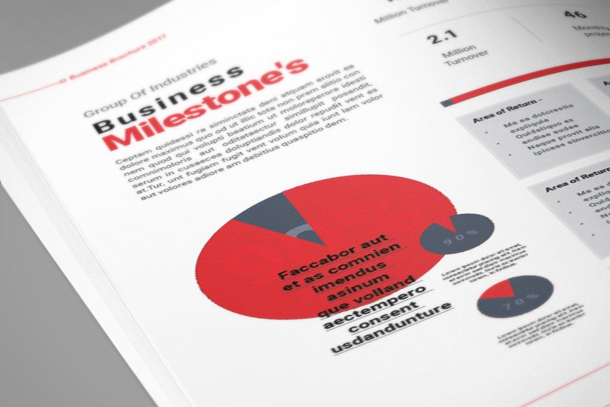 企业业务营销宣传册INDD模板 Exeelo Profile Brochure插图(12)