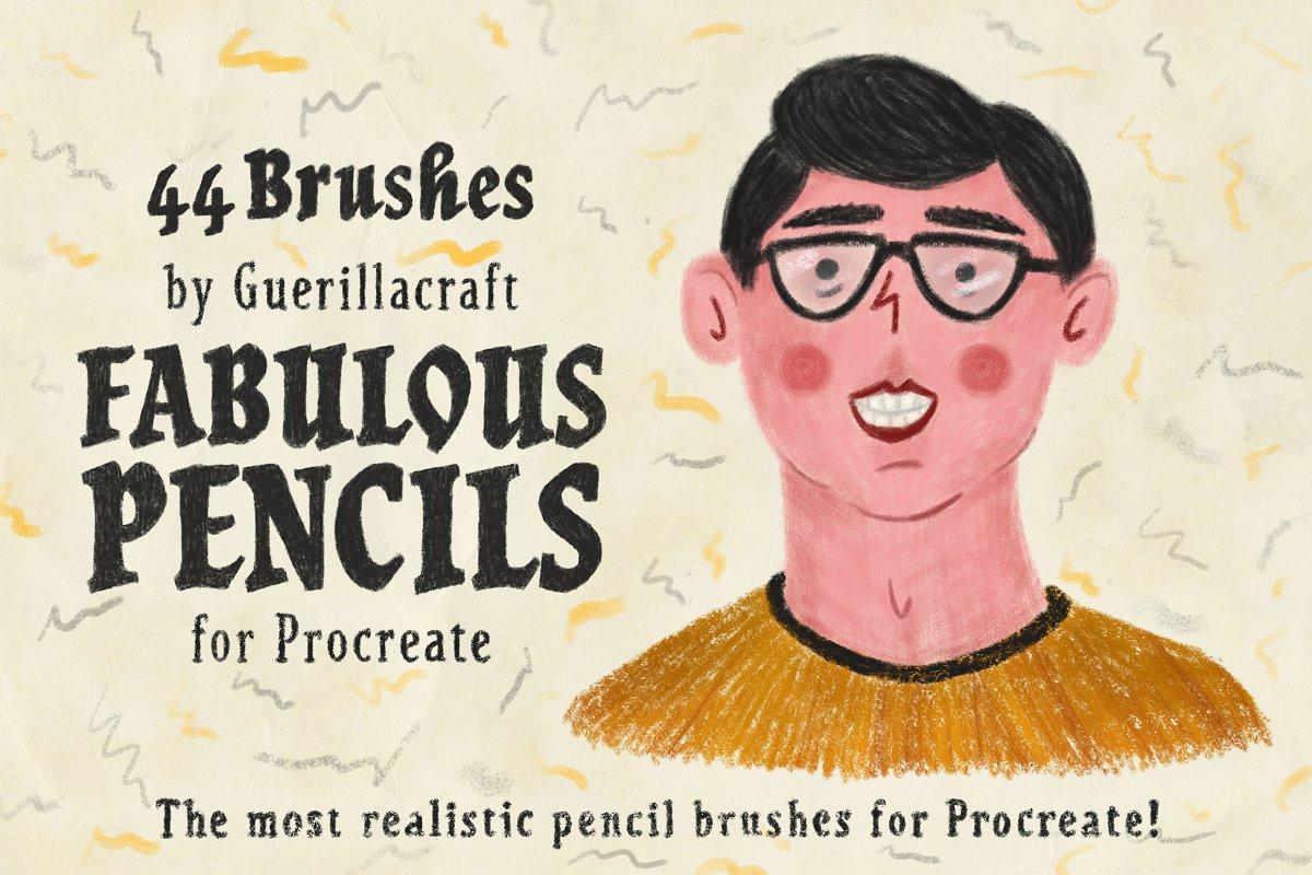 超逼真的手绘素描铅笔效果Procreate笔刷 Fabulous Pencils for Procreate插图